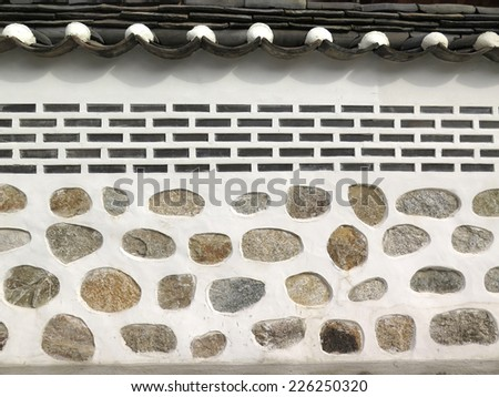 brick wall texture, Korean style - stock photo