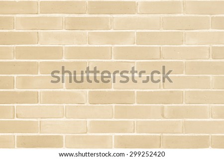 Brick wall texture pattern background in natural light ancient cream  beige brown color tone: Masonry brick work wall detail textured backdrop   - stock photo