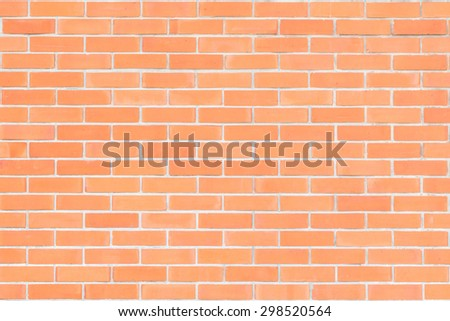 Brick wall texture patterned background in natural red brown color tone: Grunge masonry brick work wall detailed pattern textured backdrop  - stock photo