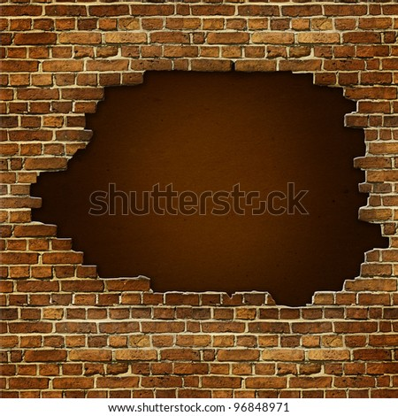 how to fix a large hole in brick wall