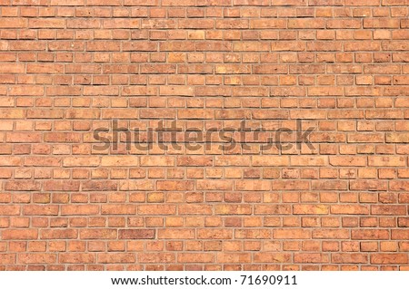 Brick wall with small blocks for background - stock photo