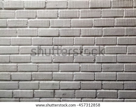 Brick with white stains