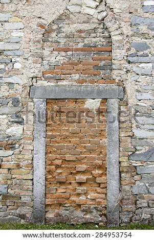 bricked-up doors - stock photo