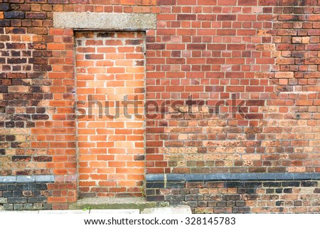 Bricked up doorway on a brick wall background available for copy space. & Closed Brick Wall Windows Stock Images Royalty-Free Images ... Pezcame.Com