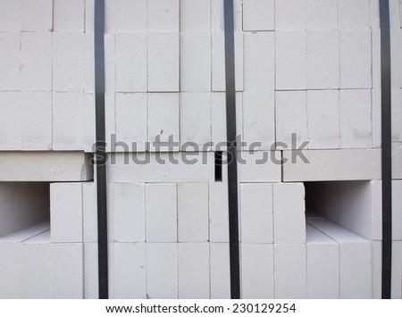 Bricks at a construction site. - stock photo