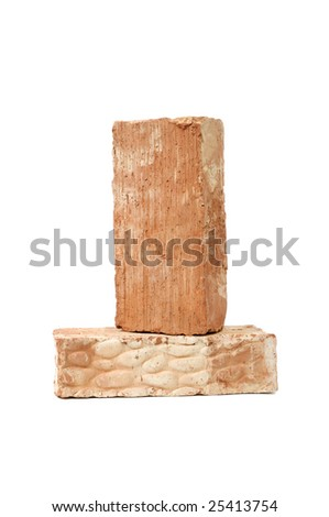 bricks isolated on a white background