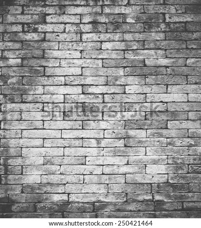 Bricks used for building Or used as a backdrop - stock photo