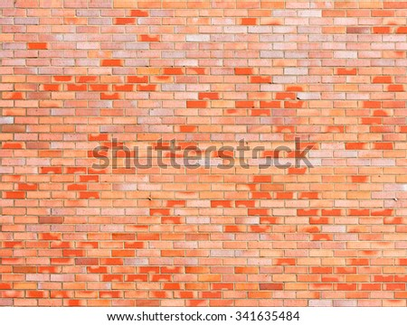 Brickstone wall of red bricks full frame - stock photo