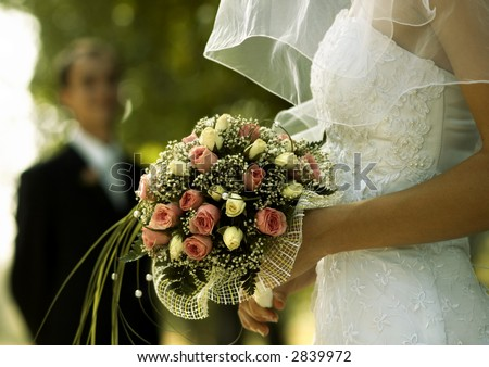 bridal bouquet(focus on the flowers,special photo f/x)