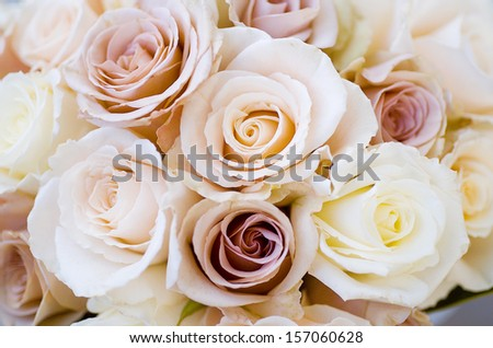 Bridal bouquet of beautiful Roses for a wedding - stock photo