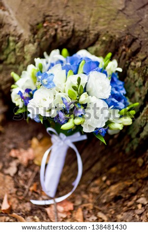 bridal bouquet of flowers - stock photo