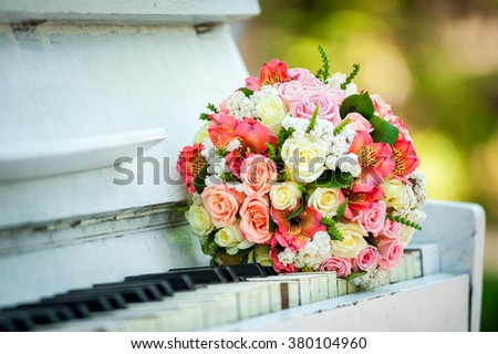 bridal bouquet of fresh flowers