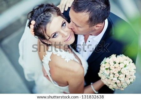 bridal couple - stock photo
