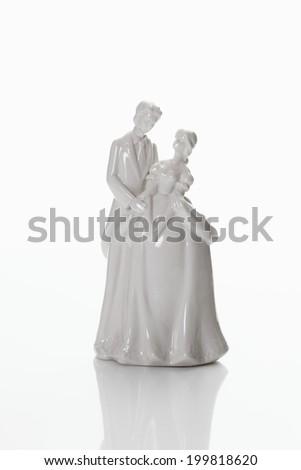 Bridal couple figurine - stock photo