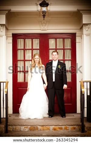 Bride and Groom - stock photo
