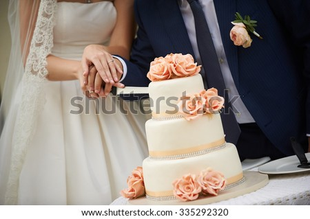 Wedding cake cutting pictures out to decorate