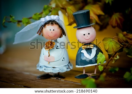 bride and groom decoration  - stock photo