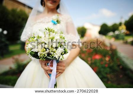 Bride bouquet - stock photo