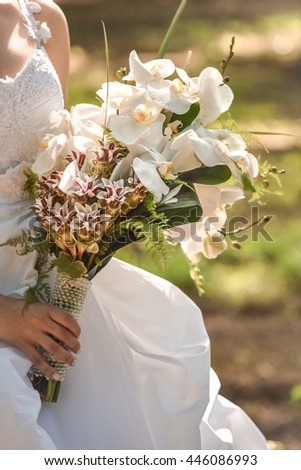 Bride bouquet. Wedding day