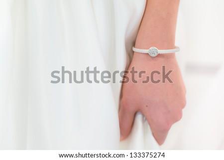 Bride bracelet - stock photo