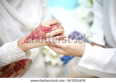 bride couple hand. wedding ceremony
