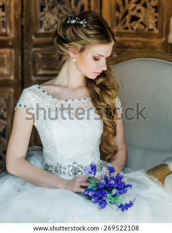 bride's portrait - stock photo