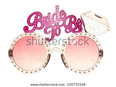 bride to be glasses cutout - stock photo