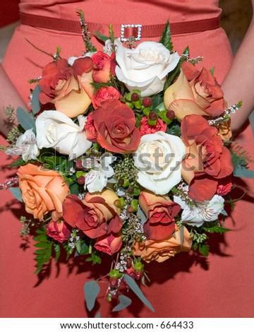 Bridesmaid bouquet. - stock photo