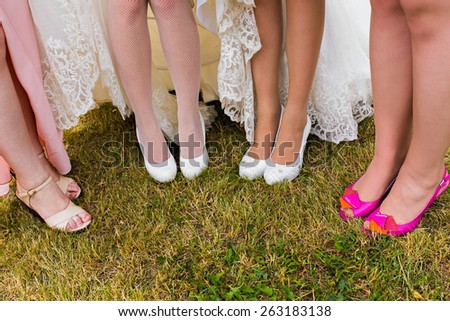 bridesmaids  - stock photo