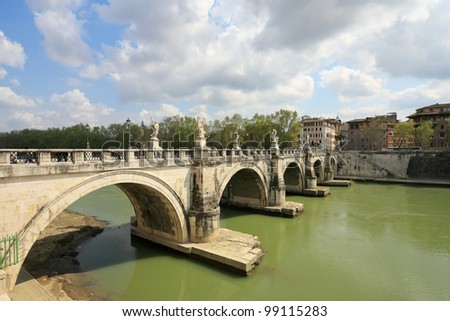 Bridge across the Tiber , Rome