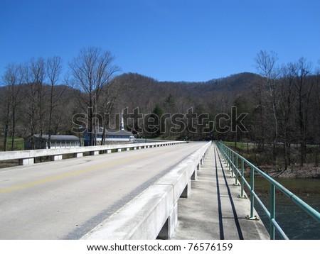 Bridge along the Appalachian Trail in Tennessee - stock photo