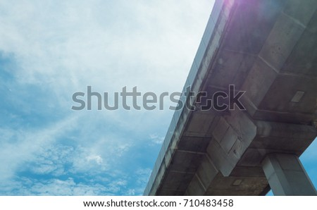 bridge and blue sky background