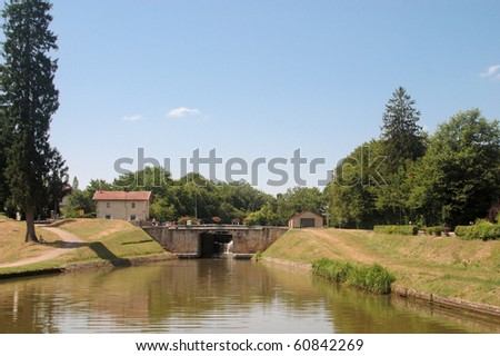 Bridge and Lock on the Briare Canal