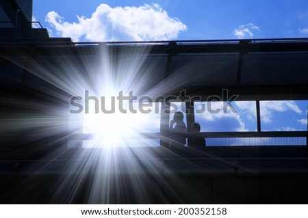 Bridge And The Light - stock photo