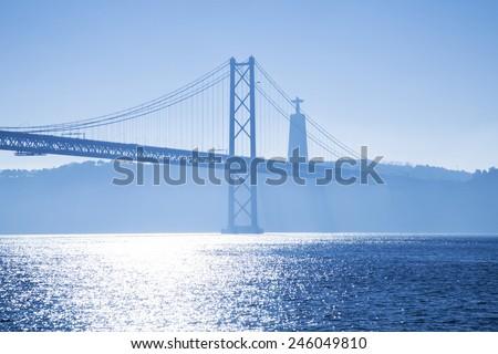 bridge April 25 Lisbon - stock photo