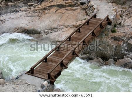 Bridge at Hetch Hetchy in Yosemite National Park - stock photo