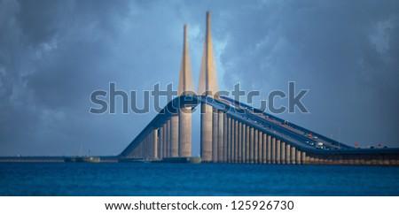 Bridge called the Sky Way - stock photo