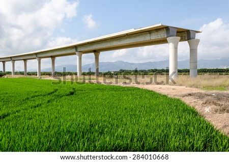 Bridge construction - stock photo