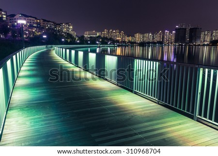 bridge construction at night in korea