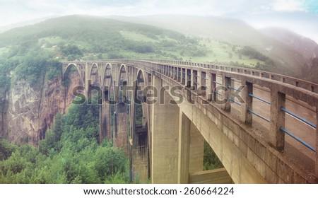 Bridge dzhurzhevicha Montenegro - stock photo