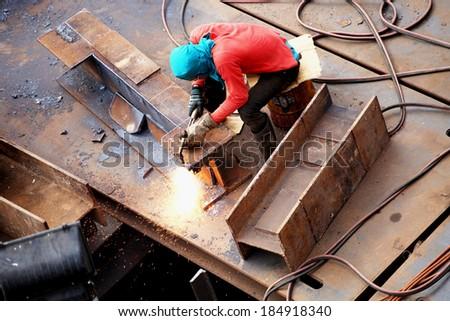 Bridge Foundation Construction Site  - stock photo