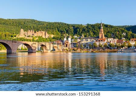 Bridge in Heidelberg, Germany - stock photo