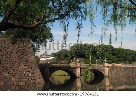 Bridge in imperial palace Japan - stock photo