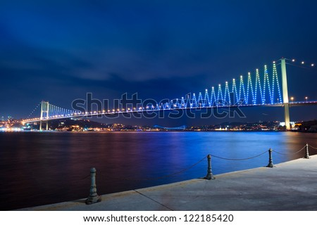 Bridge in Istanbul via Basfor - stock photo