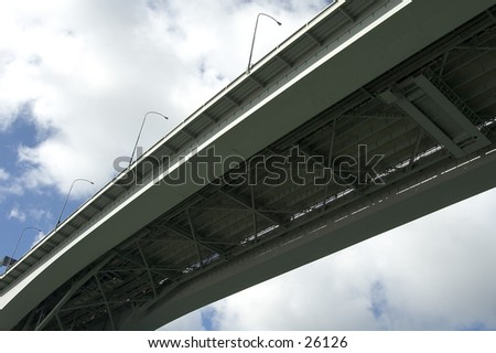 Bridge in New Zealand - stock photo