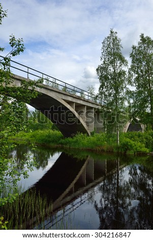 Bridge in northern Finland