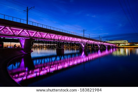 Bridge in Phoenix Arizona - stock photo