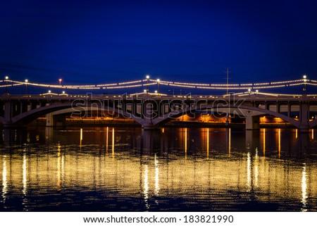 Bridge in Phoenix Arizona - stock photo