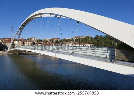 Bridge in Plentzia, Bizkaia, Basque Country, Spain - stock photo
