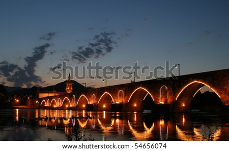 Bridge in Ponte de Lima - stock photo